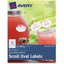 Oval Scroll Labels